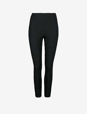 WHISTLES Super Stretch cotton-blend trousers