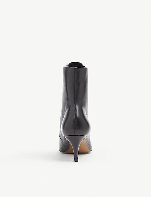 WHISTLES Celeste kitten heel leather boot