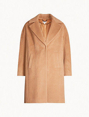 WHISTLES Mara wool-blend cocoon coat