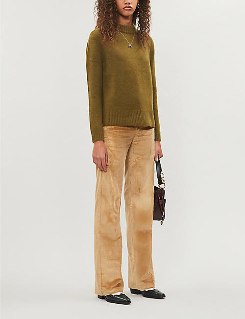 WHISTLES High-neck stretch-knit jumper