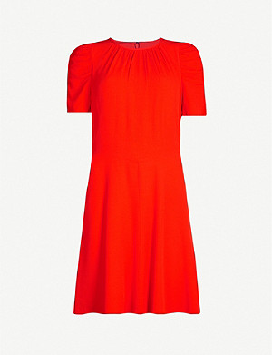 WHISTLES Simone Flippy crepe mini dress