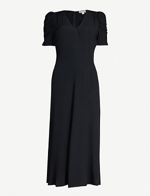 WHISTLES Jolanta crepe midi dress