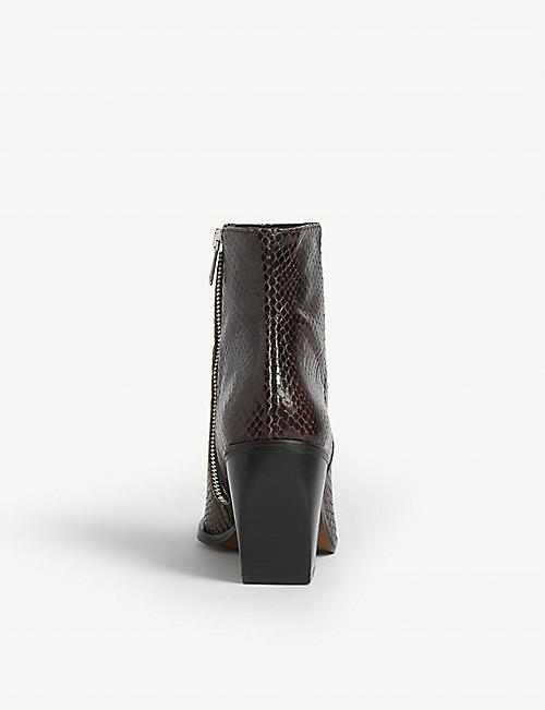 WHISTLES Grove Western leather ankle boots