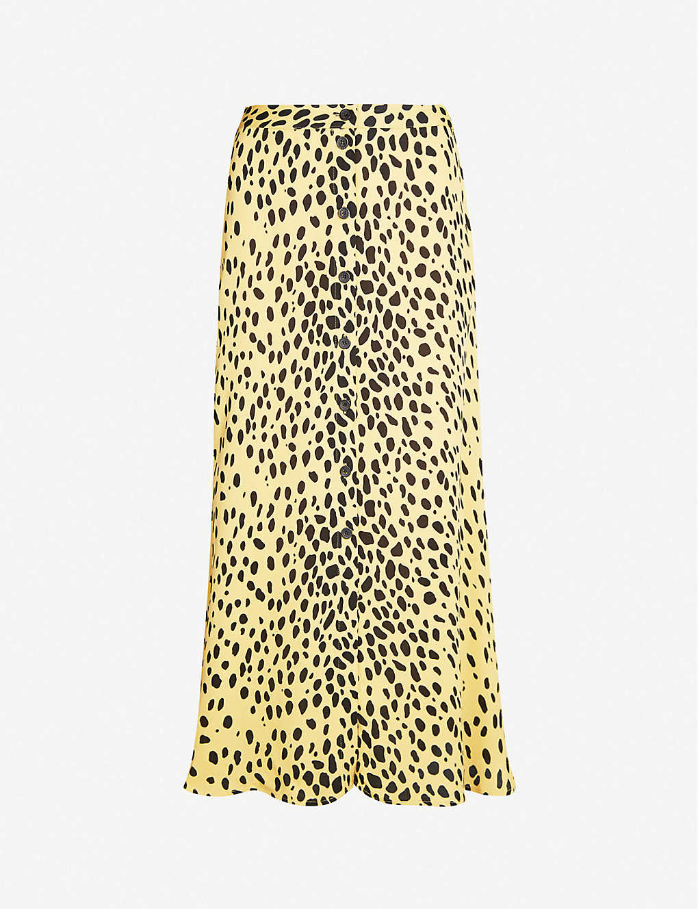 8d61c218a89f WHISTLES - Animal-print A-line crepe midi skirt | Selfridges.com