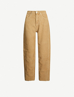 WHISTLES High-rise cotton-corduroy trousers