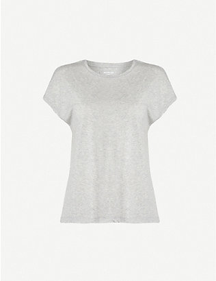 WHISTLES: Cap-sleeved jersey T-shirt
