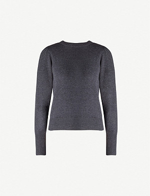 WHISTLES Puffed sleeve cotton-blend jumper
