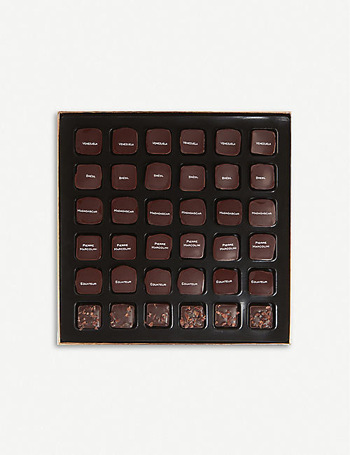 PIERRE MARCOLINI Malline Grand Crus dark ganache chocolates box of 36