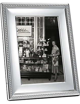 "CHRISTOFLE: Perles silver-plated photo frame 4"" x 6"""