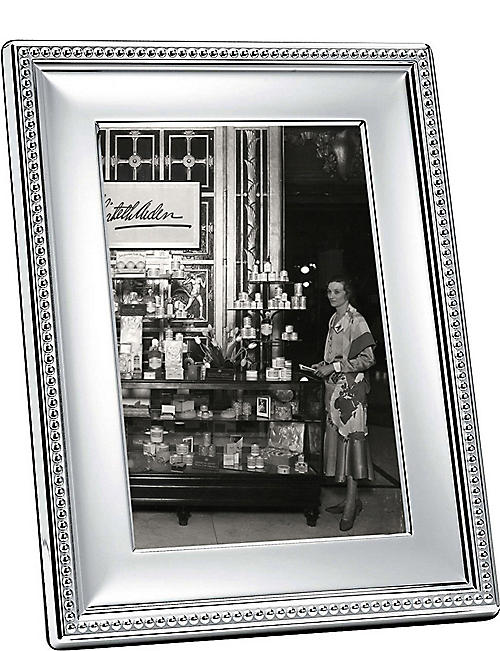 "CHRISTOFLE Perles silver-plated photo frame 5"" x 7"""
