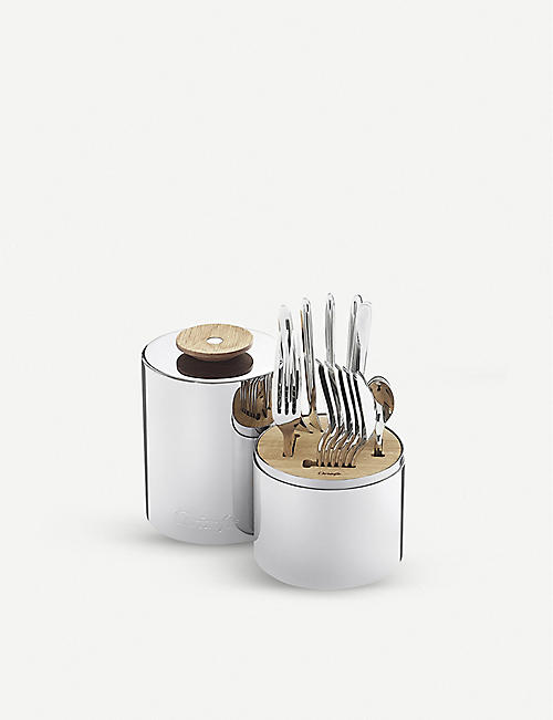 CHRISTOFLE: Essential cutlery stainless steel 24 piece set