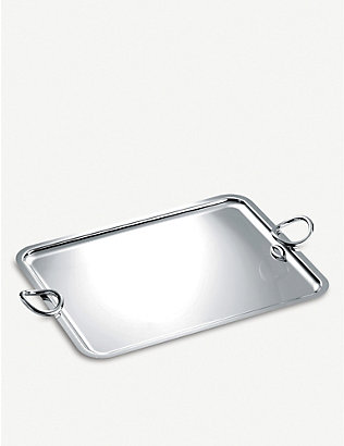 CHRISTOFLE: Vertigo silver-plated tray 31x43cm