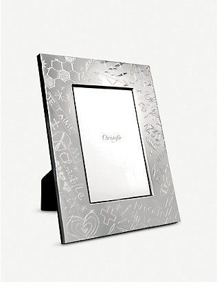 CHRISTOFLE: Graffiti silver-plated picture frame 15x10cm