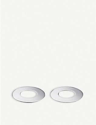 CHRISTOFLE: Oh! stainless steel coasters 9.3 cm