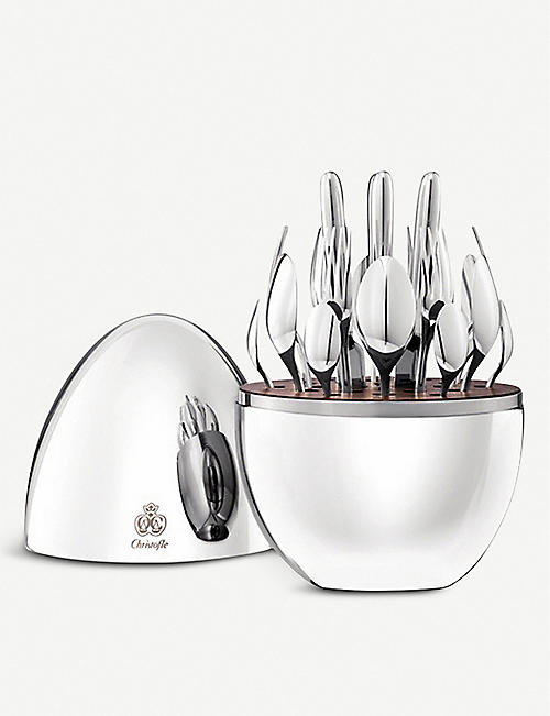 CHRISTOFLE: MOOD silver-plated stainless steel cutlery set of 24