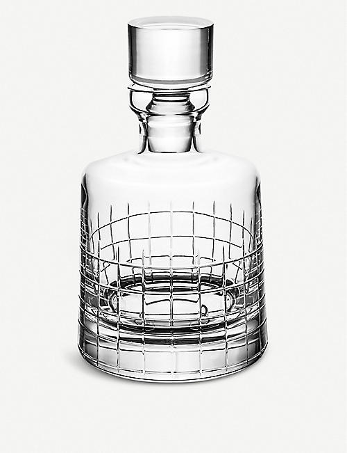 CHRISTOFLE Graphik crystal whiskey decanter