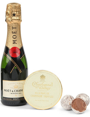 CHARBONNEL ET WALKER Champagne and chocolate truffles gift set