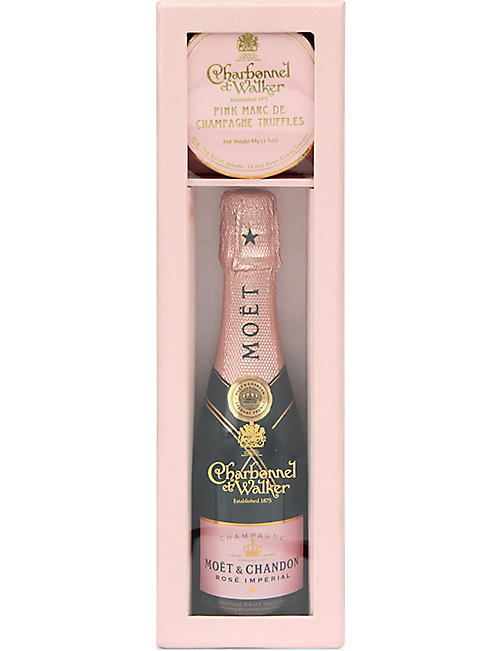 CHARBONNEL ET WALKER Pink Champagne and truffle gift set