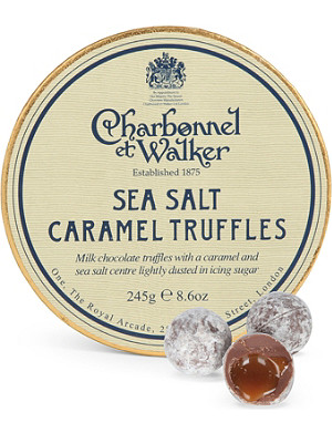 CHARBONNEL ET WALKER Sea Salt Caramel milk chocolate truffles 245g