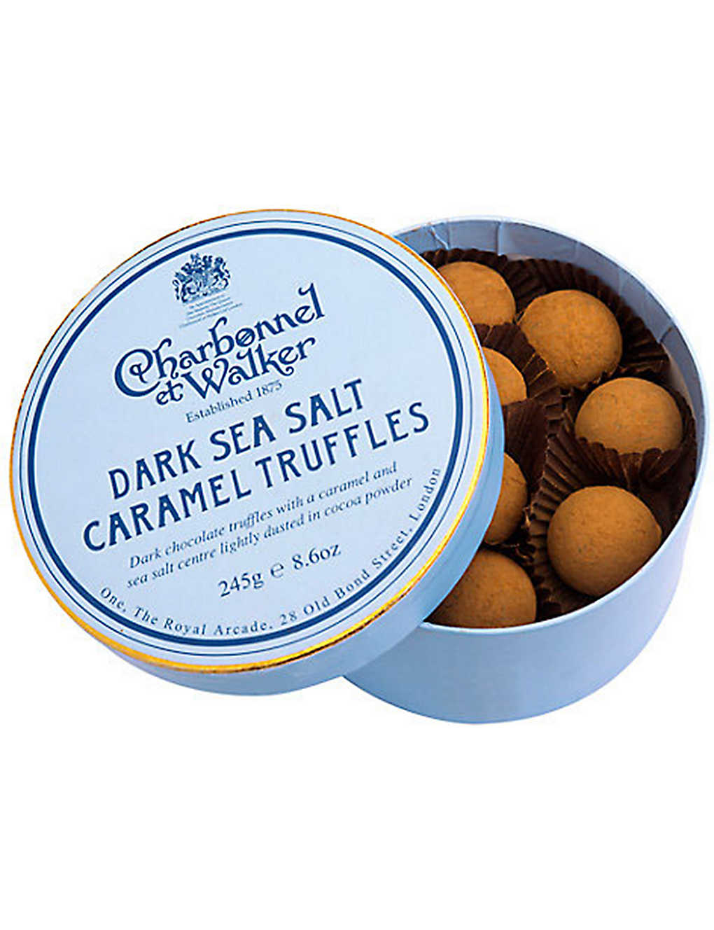 CHARBONNEL ET WALKER: Dark Sea Salt Caramel truffles 245g