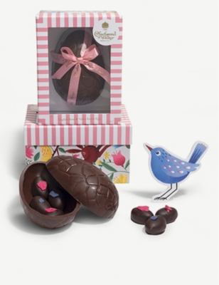 CHARBONNEL ET WALKER Dark chocolate rose and violet Easter egg 225g