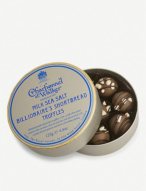 NONE Billionaire's Shortbread milk chocolate truffles 125g