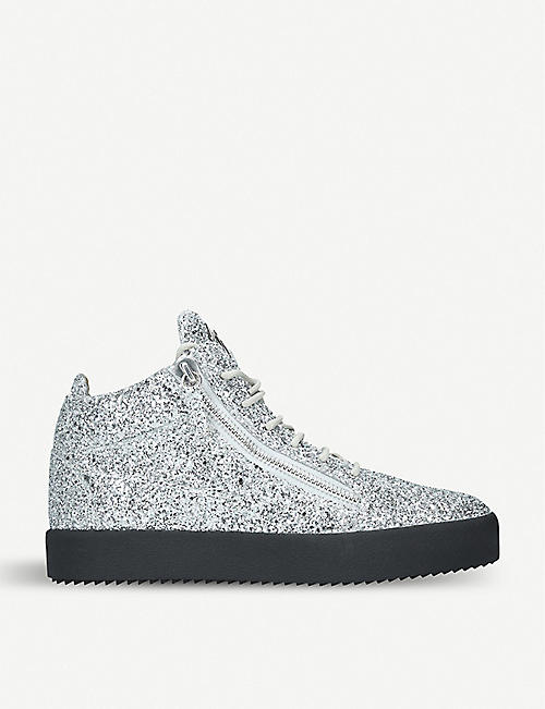 GIUSEPPE ZANOTTI Kriss glittered high-top trainers