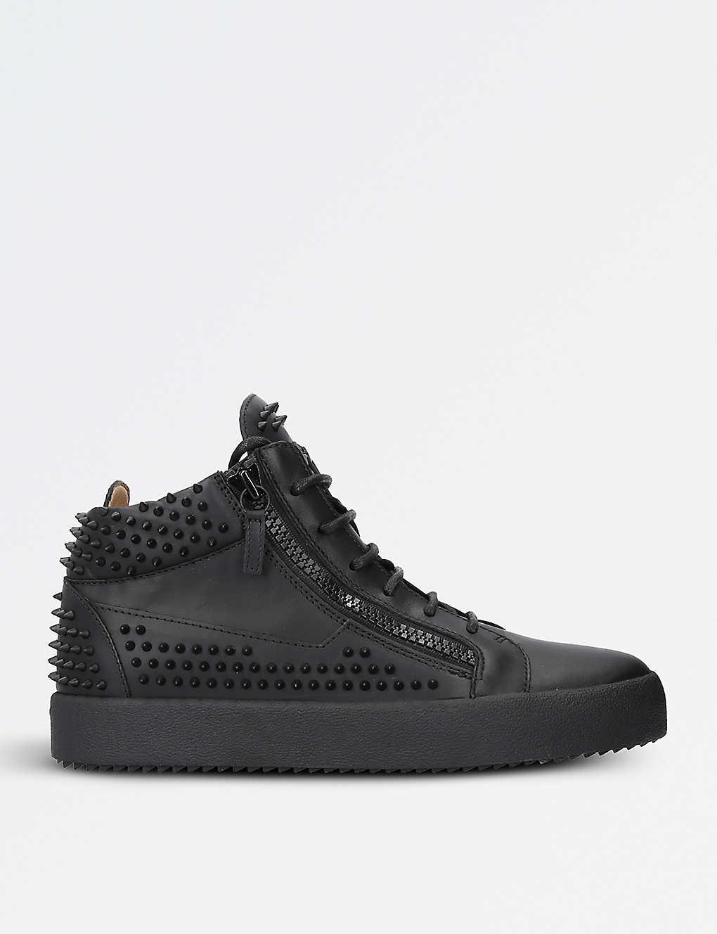 5b5d3f404d83d GIUSEPPE ZANOTTI - Spike leather trainers | Selfridges.com