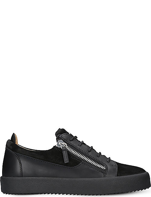 GIUSEPPE ZANOTTI Panelled leather trainers 3ed470c7e