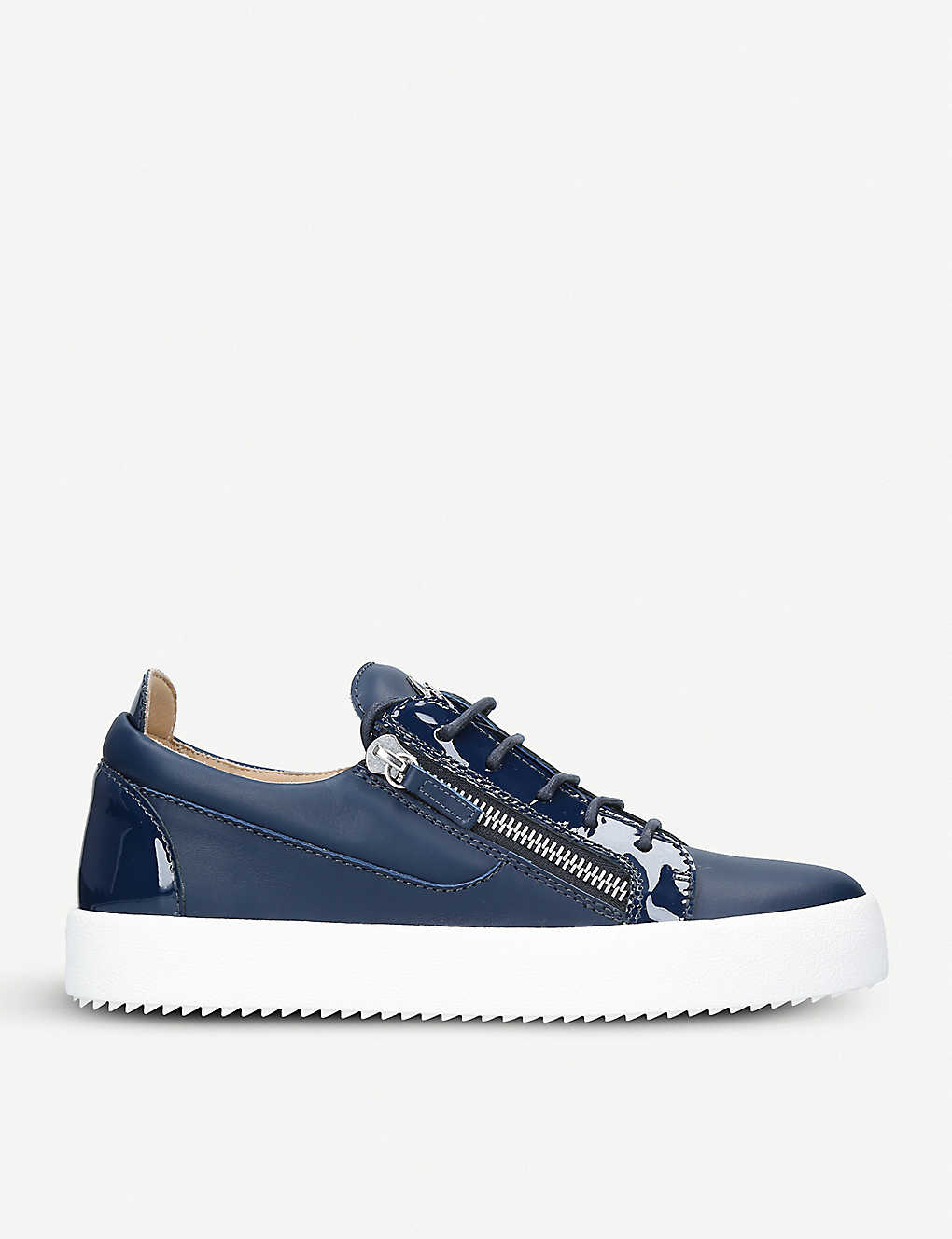 bd04a512d66b5 GIUSEPPE ZANOTTI - Signature Mix leather low-top trainers ...
