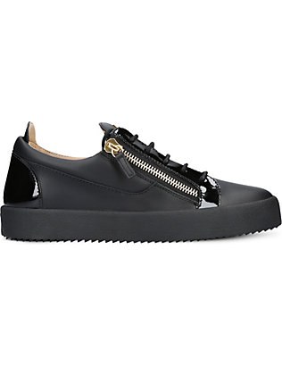 GIUSEPPE ZANOTTI: Panelled leather trainers