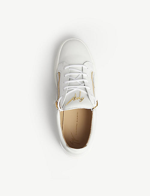 GIUSEPPE ZANOTTI Low-top leather trainers