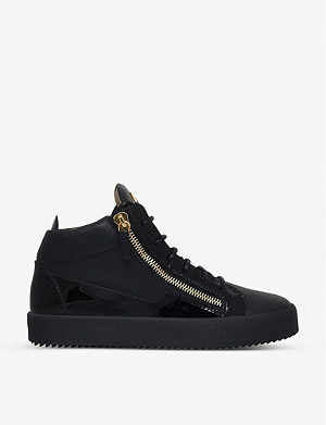 GIUSEPPE ZANOTTI Kriss patent-leather trainers