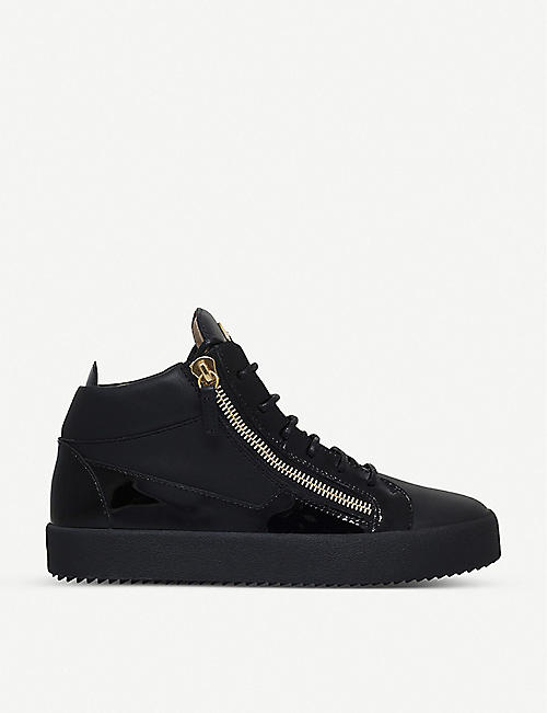 e4c2bf31b4275 GIUSEPPE ZANOTTI Kriss patent-leather trainers