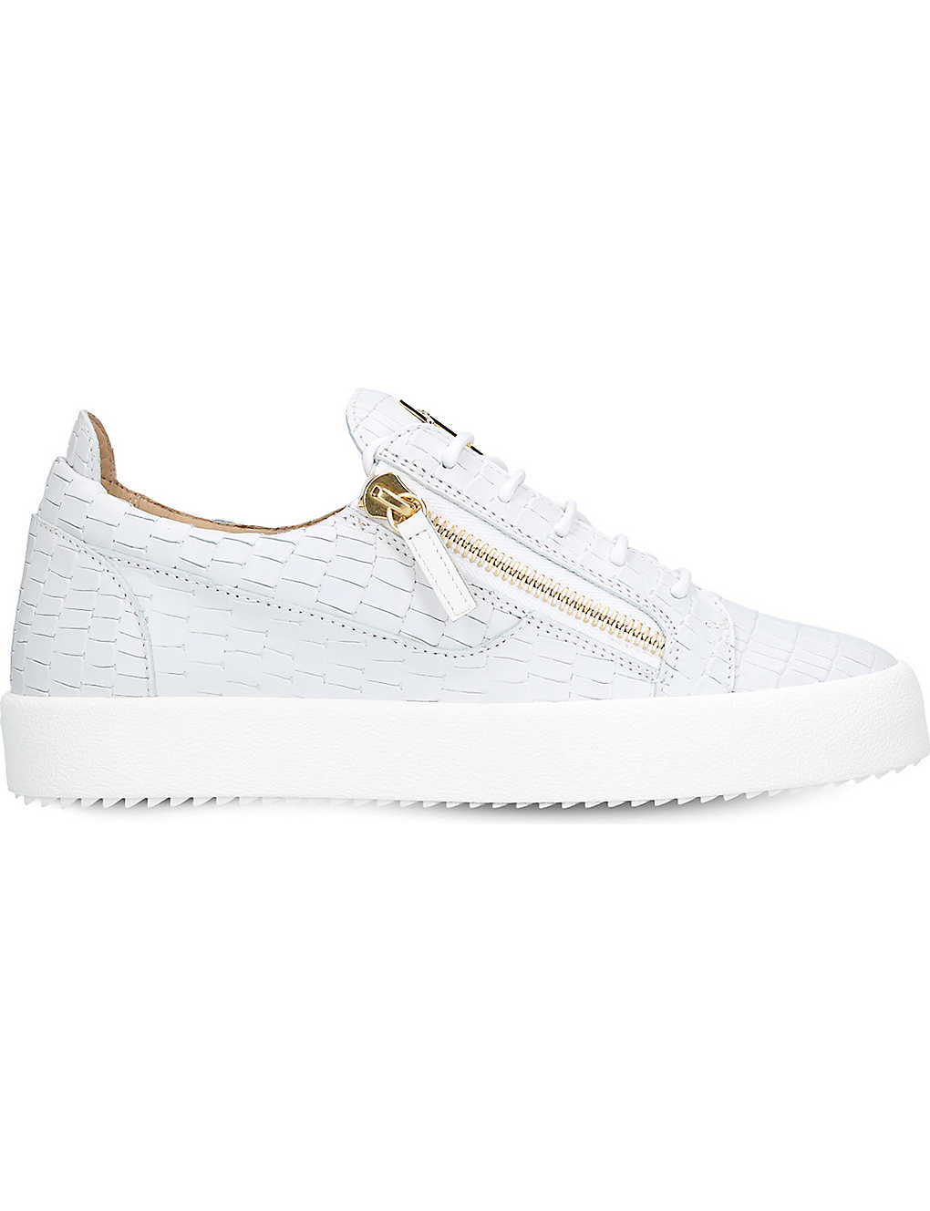 2659d164d74b2 GIUSEPPE ZANOTTI - Croc-embossed low-top leather trainers ...