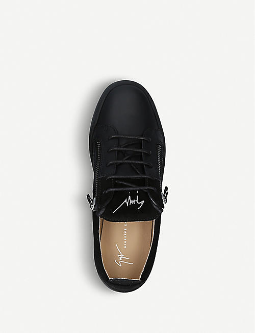 GIUSEPPE ZANOTTI Double leather and suede trainers