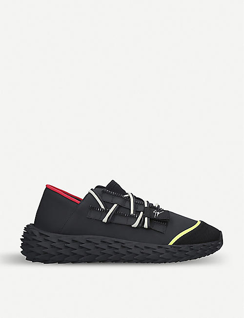 6c24e0195be69 GIUSEPPE ZANOTTI Urchin rubberised-leather trainers