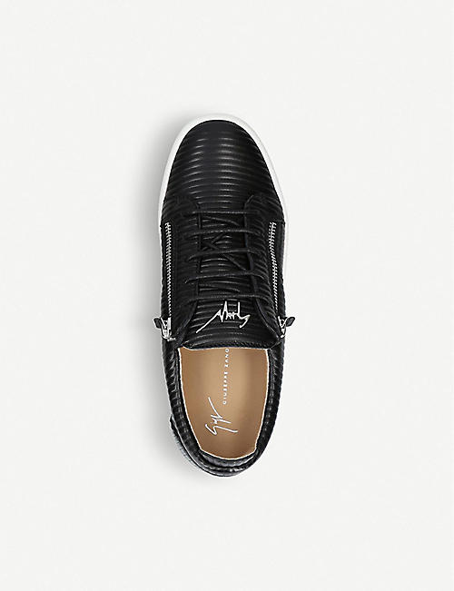 GIUSEPPE ZANOTTI Ribbed leather trainers