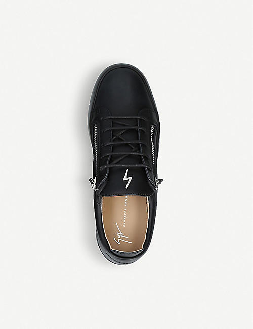 06ba9097599 GIUSEPPE ZANOTTI Zip-embellished leather trainers