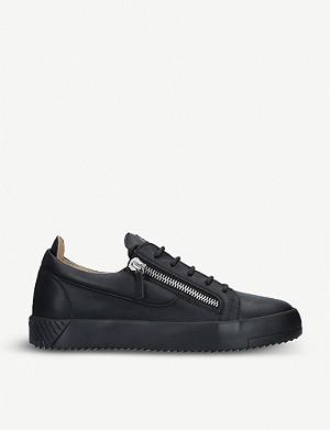 119e84cf6 GIUSEPPE ZANOTTI - Signature mixed leather trainers