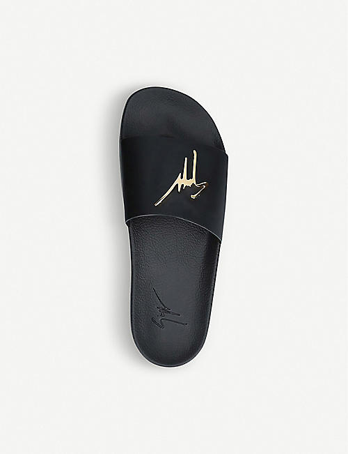 GIUSEPPE ZANOTTI Signature leather sliders