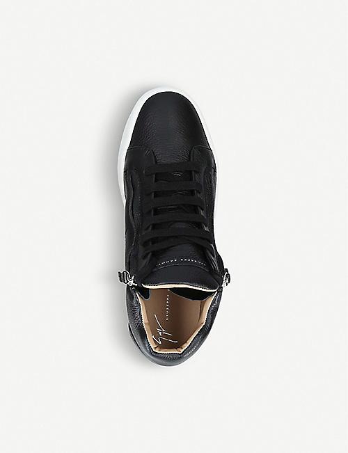 de0c64709fc84 GIUSEPPE ZANOTTI Justy double-zip leather trainers