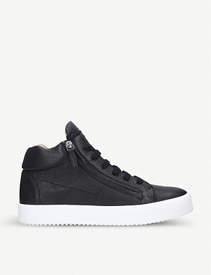 GIUSEPPE ZANOTTI Justy double-zip leather trainers