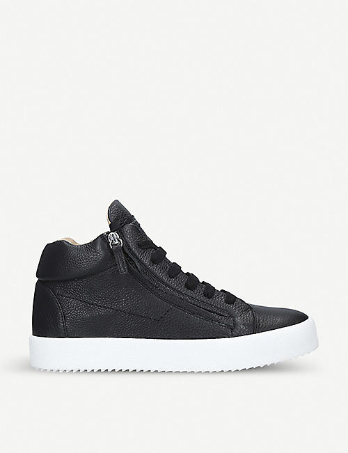 0b6127dcf68f6 GIUSEPPE ZANOTTI Justy double-zip leather trainers