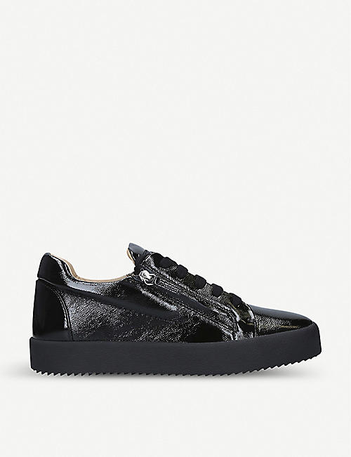 GIUSEPPE ZANOTTI Low-top patent leather trainers