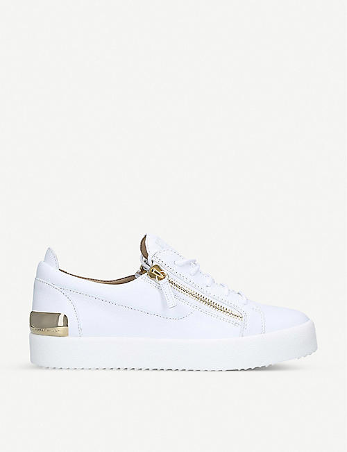 GIUSEPPE ZANOTTI Leather low-top trainers