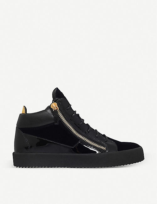 bc7ec6be189c GIUSEPPE ZANOTTI Kriss velvet and patent leather trainers
