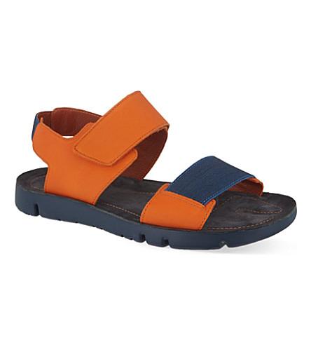 5b23310b074 CAMPER Oruga Velcro strap sandals (Orange