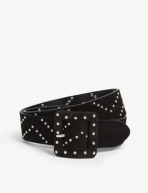 THE KOOPLES Suede stud detail belt
