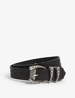 THE KOOPLES Horn buckle leather belt